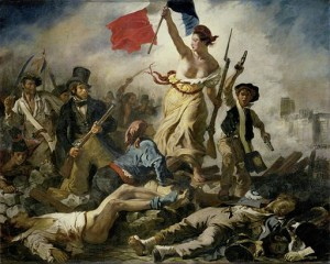 Fans protestieren gegen den spielfreien Tag - Abb.: Eugène Delacroix [Public domain], via Wikimedia Commons