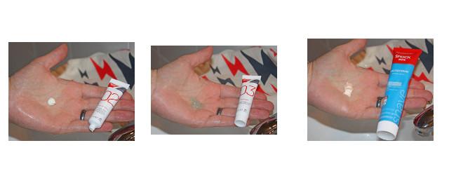 MG-Rasierecreme, MG- Rasiergel und Speick-Rasiercreme zum Vergleich