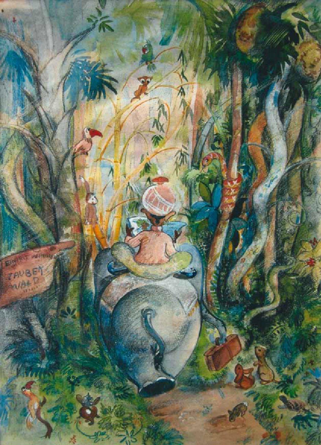 Thomas Häfner, Elefant im Zauberwald (1948/49; Katalog: 126)