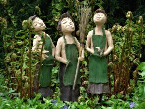 statues, art, gardeners